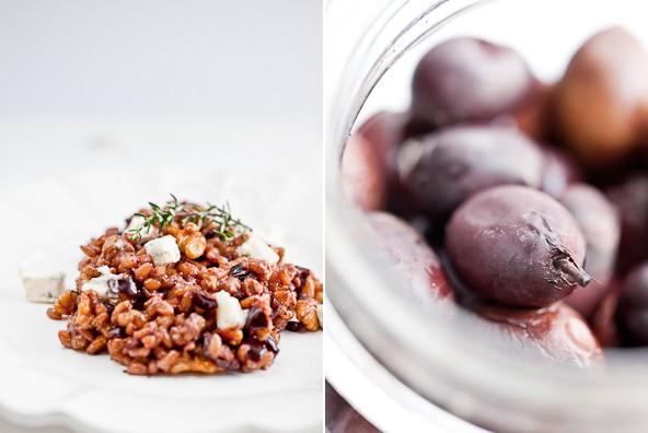 (Deutsch) Lauwarmer Getreidesalat mit Walnüssen und Gorgonzola - Kombination verschiedener Texturen